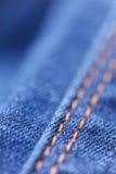 Jeans closeup. Jeans clothes close up, selective focus Stock Image