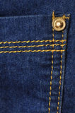 Jeans cloth closeup Royalty Free Stock Photography