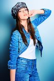 Jeans clothes Stock Images