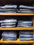 Jeans in clothing store Royalty Free Stock Images