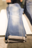 Jeans clothing store Royalty Free Stock Image