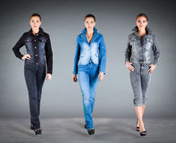 Jeans collection clothes Royalty Free Stock Photo