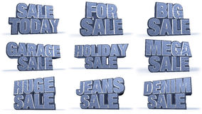 Jeans Collection Sales Campaign Titles Royalty Free Stock Photos
