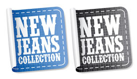 Jeans collection stickers Stock Photography