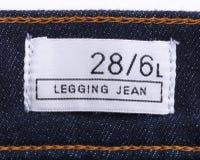 Jeans con il contrassegno Fotografia Stock