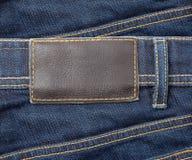 Jeans con lable Fotografia Stock