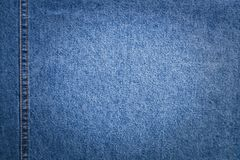 Jeans With Copyspace In Center On Blurred Background. Stock Photography