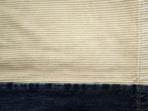 Jeans and Corduroy Stock Photo