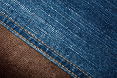 Jeans and corduroy textures Royalty Free Stock Images