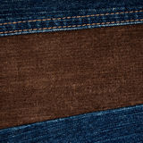 Jeans and corduroy textures Royalty Free Stock Image