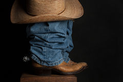 Jeans and Cowboy Hat Stock Image