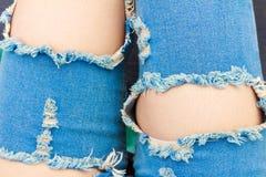 Jeans déchirés Photo libre de droits