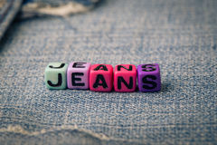 Jeans d'amour sur jeans Photo stock
