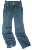 Jeans d'isolement sur le blanc Photos libres de droits
