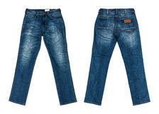 Jeans d'isolement sur le fond blanc Image stock