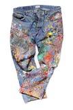 Jeans d'un artiste Photographie stock libre de droits