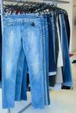 Jeans dans une mémoire Photos stock