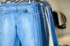 Jeans dans une mémoire Photo libre de droits