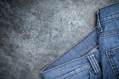 Jeans on dark background Royalty Free Stock Photo