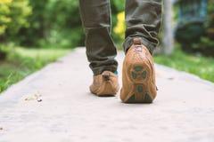 Jeans de femme et chaussures d'espadrille Photos stock