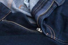 Jeans de fermeture éclair Photographie stock libre de droits