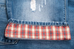 Jeans de plaid Photos stock