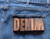Jeans del denim Fotografia Stock Libera da Diritti