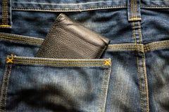 Jeans del portafoglio Immagine Stock