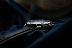 Jeans dell'orologio Immagini Stock