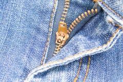 Jeans della chiusura lampo. Immagine Stock