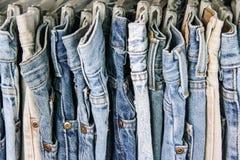 Jeans della seconda mano Fotografia Stock Libera da Diritti
