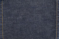 Jeans Denim Background with Stitches Royalty Free Stock Photos