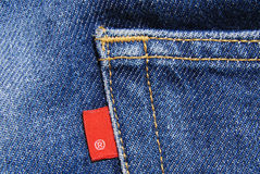 Jeans denim cotton material Stock Photography