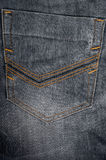 Jeans denim detail  back pocket background Royalty Free Stock Images