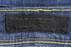 Jeans denim label Stock Photos