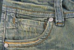 Jeans denim  pocket texture Royalty Free Stock Image