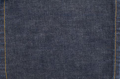Jeans Denim Texture Background with Stitches Stock Image