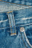 Jeans detail. Close up of a jeans to make some geometric designes on it Royalty Free Stock Photos