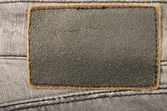 Jeans di cuoio del contrassegno Immagine Stock