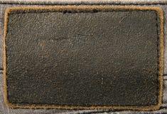 Jeans di cuoio del contrassegno Fotografia Stock
