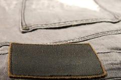 Jeans di cuoio del contrassegno Immagini Stock Libere da Diritti