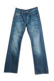 Jeans die op wit wordt geïsoleerdl royalty-vrije stock foto