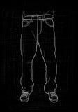 Jeans disegnati a mano illustrazione di stock