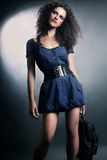 Jeans dress Fashion woman Royalty Free Stock Image