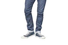 Jeans droits convenables de jambe de militaire de carrière Photographie stock