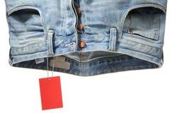 Jeans e contrassegno Immagini Stock Libere da Diritti