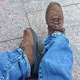 Jeans e scarpe Fotografie Stock