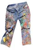 Jeans eines Künstlers Lizenzfreie Stockbilder