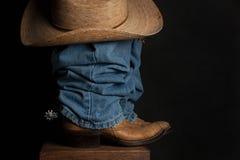Jeans en Cowboy Hat Stock Afbeelding