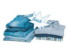 Jeans en overhemden Stock Afbeeldingen